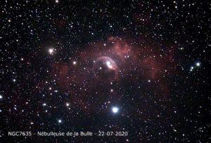 NGC 7635 nébuleuse de la Bulle
